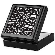 Music Lover Musical Symbols Keepsake Box