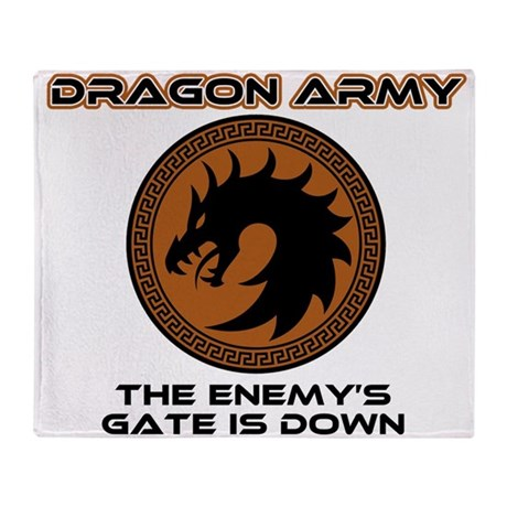 Ender Dragon Army Throw Blanket