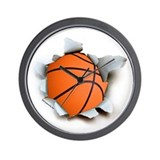 Basketball Burster Wall Clock