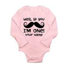 1st Birthday Mustache Personalized Baby Outfits