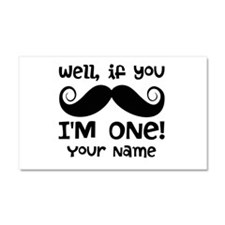 1st Birthday Mustache Personalized Car Magnet 20 x