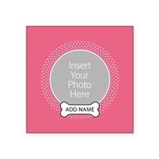 Dog Bone Pet Photo Pink Sticker