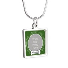 Dog Bone Pet Photo Green Necklaces