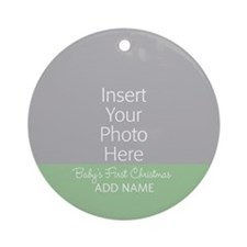 1st Christmas Mint Ornament (Round)