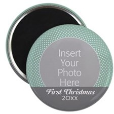 First Christmas Gray Mint Magnets