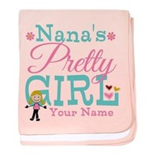 Personalized Nana's Pretty Girl baby blanket