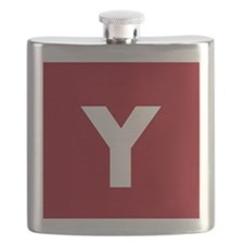 Modern Monogram Red Flask