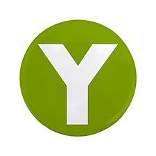 "Modern Monogram Lime Green 3.5"" Button"