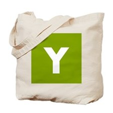Modern Monogram Lime Green Tote Bag