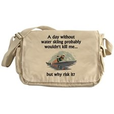 A Day Without Water Skiing Messenger Bag