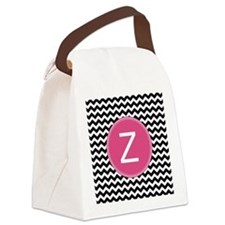 Black Pink Monogram Canvas Lunch Bag