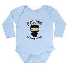 Cute Ninja Long Sleeve Infant Bodysuit