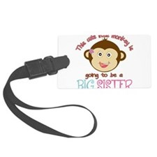 Cute Monkey Big Sister Luggage Tag
