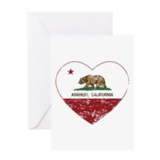 california flag anaheim heart distressed Greeting