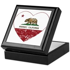 california flag anaheim heart distressed Keepsake