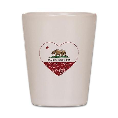 california flag anaheim heart distressed Shot Glas
