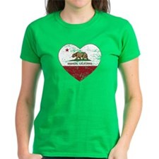 california flag anaheim heart distressed T-Shirt