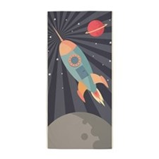 Retro Rocket Beach Towel