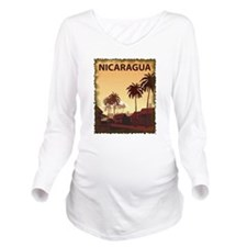 Vintage Nicaragua Long Sleeve Maternity T-Shirt