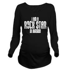 Rock Star In Nigeria Long Sleeve Maternity T-Shirt