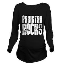 Pakistan Rocks Long Sleeve Maternity T-Shirt