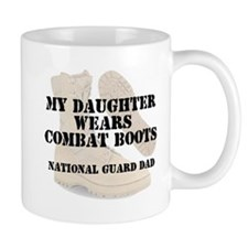 National Guard Dad Daughter wears DCB Mugs