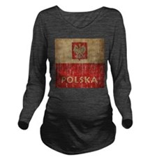 Vintage Polska Long Sleeve Maternity T-Shirt