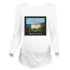 Transylvania Bran Castle Long Sleeve Maternity T-S