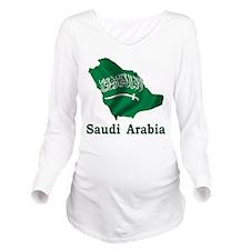 Map Of Saudi Arabia Long Sleeve Maternity T-Shirt