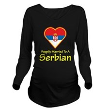 Happily Married Serbian Long Sleeve Maternity T-Sh