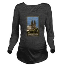 Barcelona Sagrada Familia Long Sleeve Maternity T-