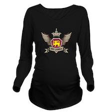 Sri Lanka Emblem Long Sleeve Maternity T-Shirt