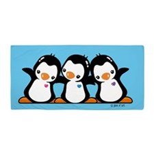 Penguins (together) Beach Towel