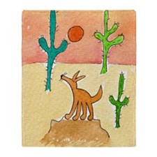 Desert Coyote 11x17 350dpi Throw Blanket