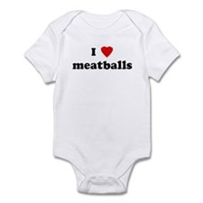 I Love meatballs Infant Bodysuit
