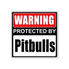 Warning Pitbulls Sticker