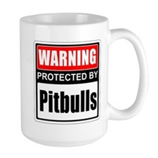 Warning Pitbulls Mugs