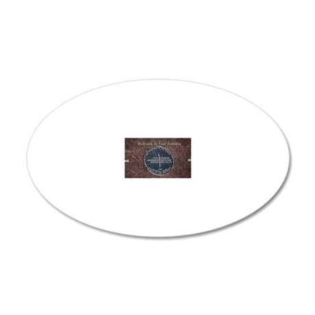 Welcome to Four Corners Monu 20x12 Oval Wall Decal