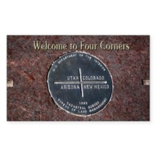 Welcome to Four Corners Monume Decal