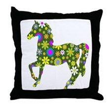 horse running to love Throw Pillow