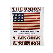 ART Lincoln 1864 Throw Blanket