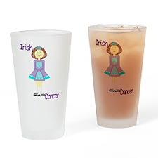 irishdancertee3 Drinking Glass