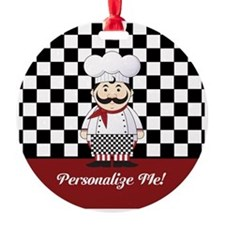 Personalized French Chef Ornament