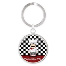 Personalized French Chef Round Keychain
