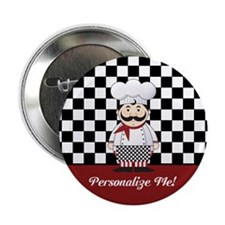 "Personalized French Chef 2.25"" Button (10 pack)"