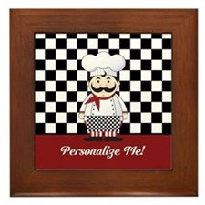 Personalized French Chef Framed Tile