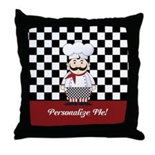 Personalized French Chef Throw Pillow