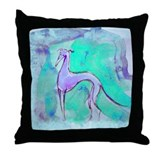 Blues Hound Throw Pillow