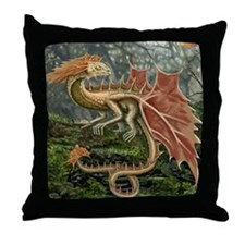 Autumn Leaf Dragon Throw Pillow