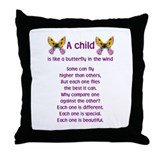 A Child is Like a Butterfly - Throw Pillow